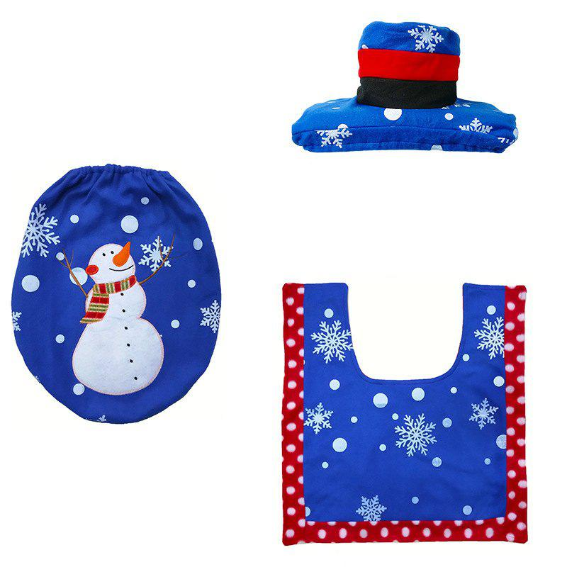 Online Toilet Seat Cover Mat Holder Foot Pad Cover Christmas Home Living Decor