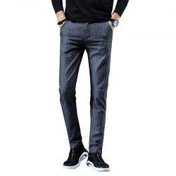 Men'S Fashion Casual Plaid Trousers Work Work Party Pants 519 -