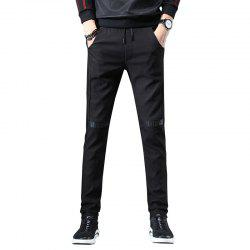 Men'S Fashion Casual Pants Youth Trend Stitching Stretch Sweatpants Trousers 815 -