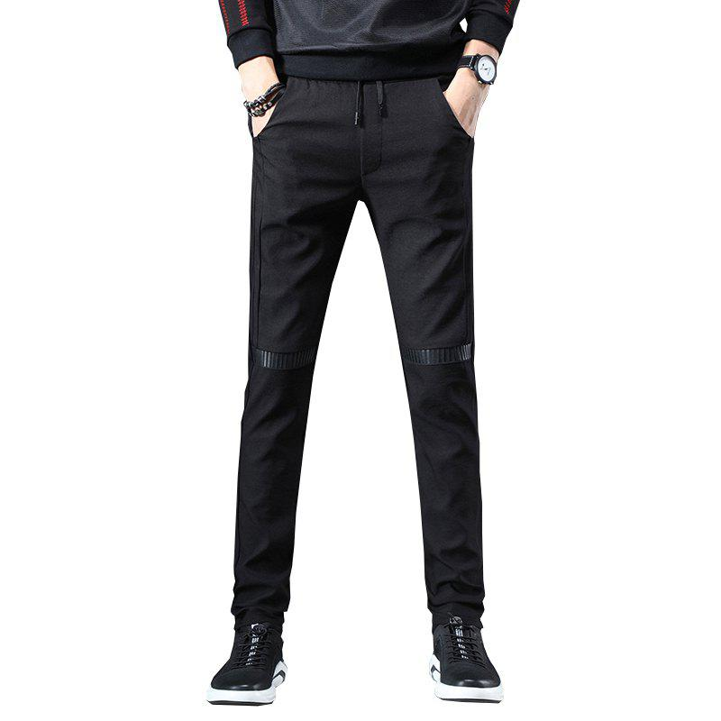 Affordable Men'S Fashion Casual Pants Youth Trend Stitching Stretch Sweatpants Trousers 815