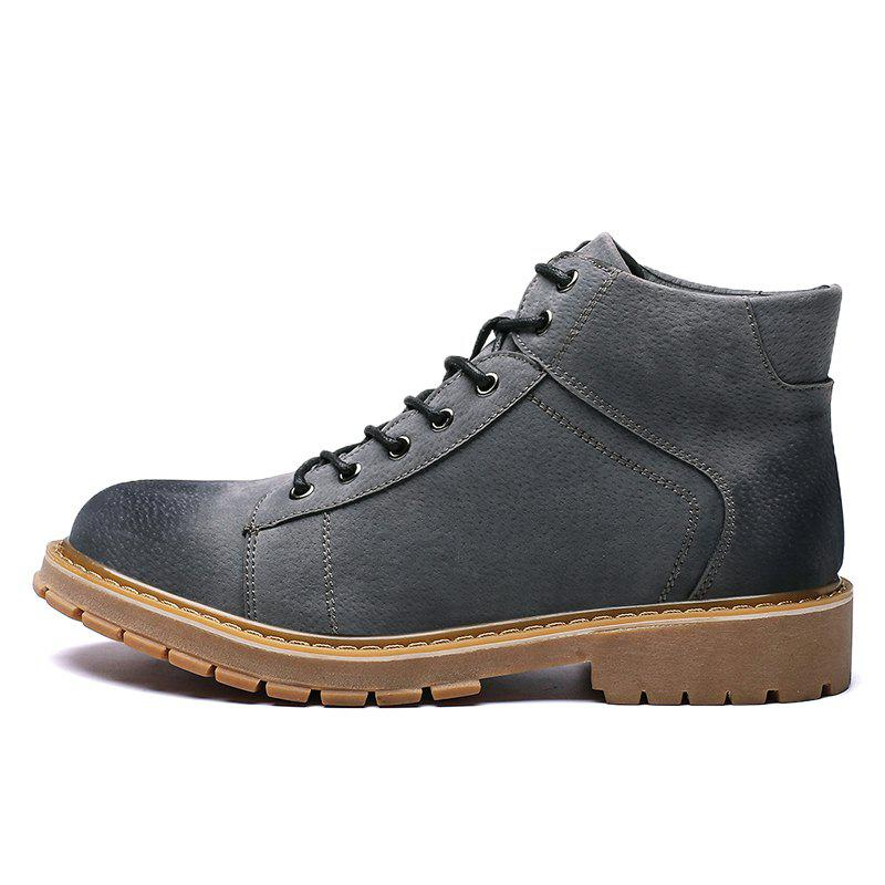 2019 Men Boots Brown Black Shoes Men Casual Leather Shoes Men Work