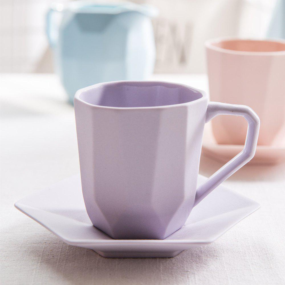 Affordable Colored Ceramic Coffee Cup and Dish Set Tea Cup Set
