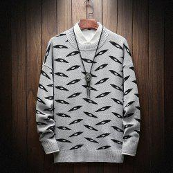 New Long-Sleeved Men Fashion Sweater Plus Size Pullover -