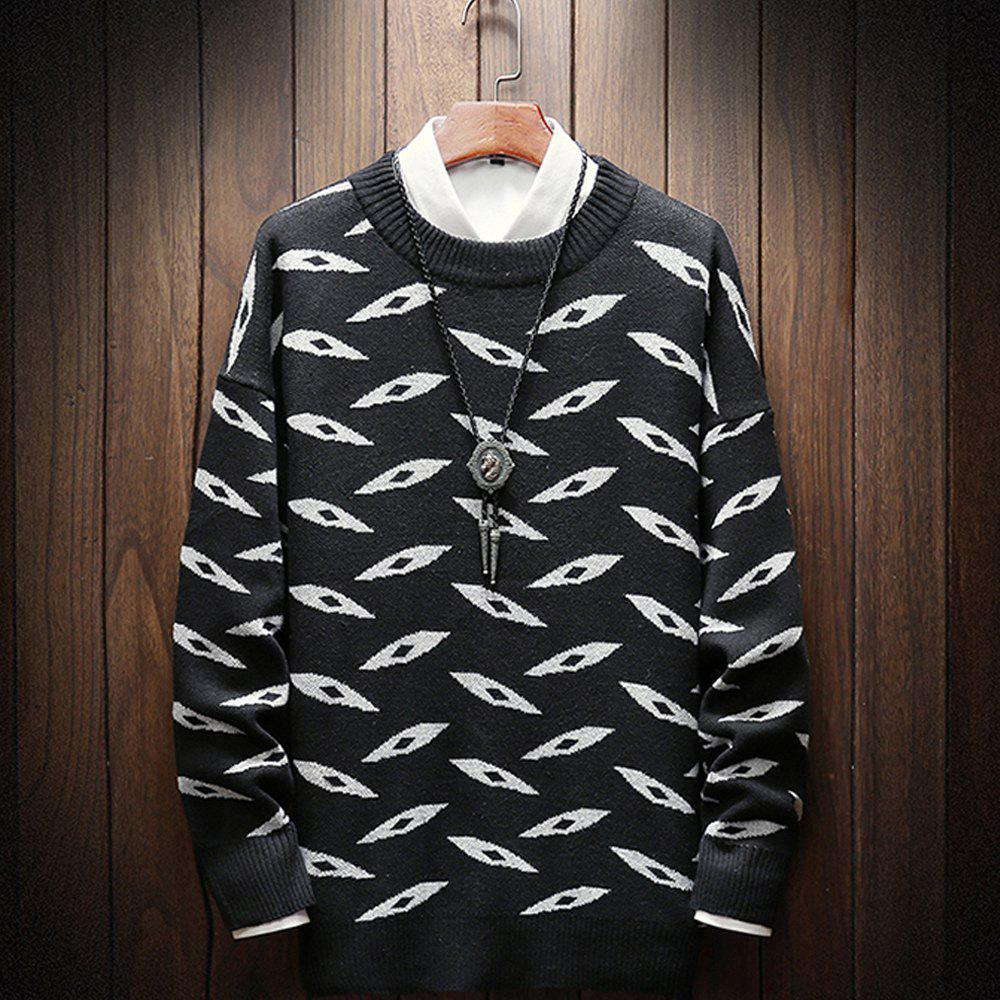 Chic New Long-Sleeved Men Fashion Sweater Plus Size Pullover