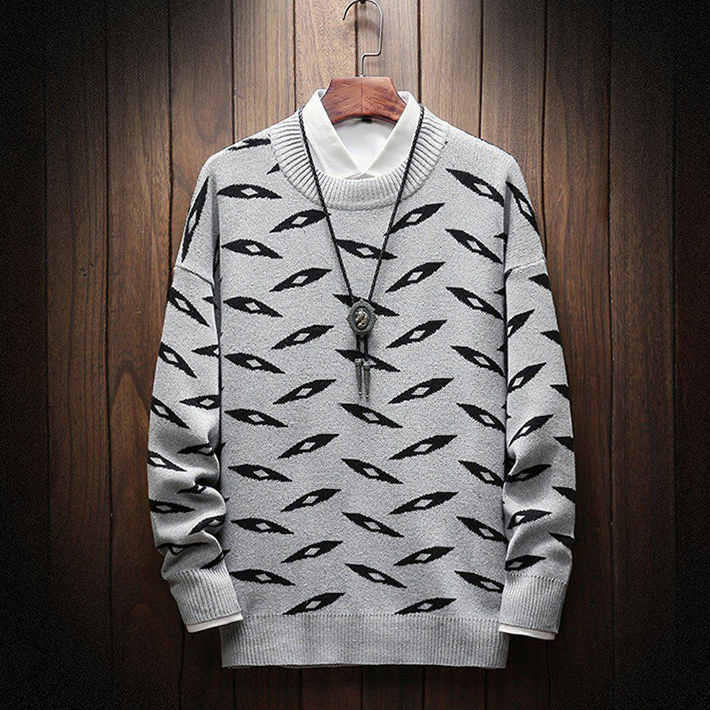 Affordable New Long-Sleeved Men Fashion Sweater Plus Size Pullover