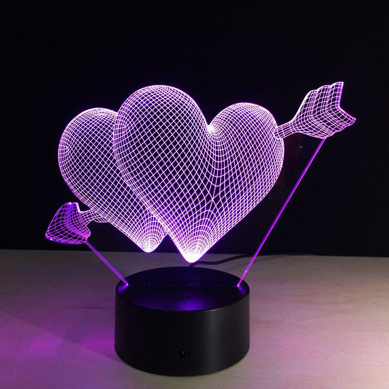 Affordable YEDUO 3D Night Light Lamp LOVE Heart Christmas Valentine's Day Gift for Lover