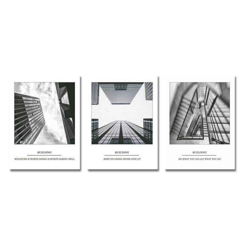DYC 3PCS Tall Buildings Print Art