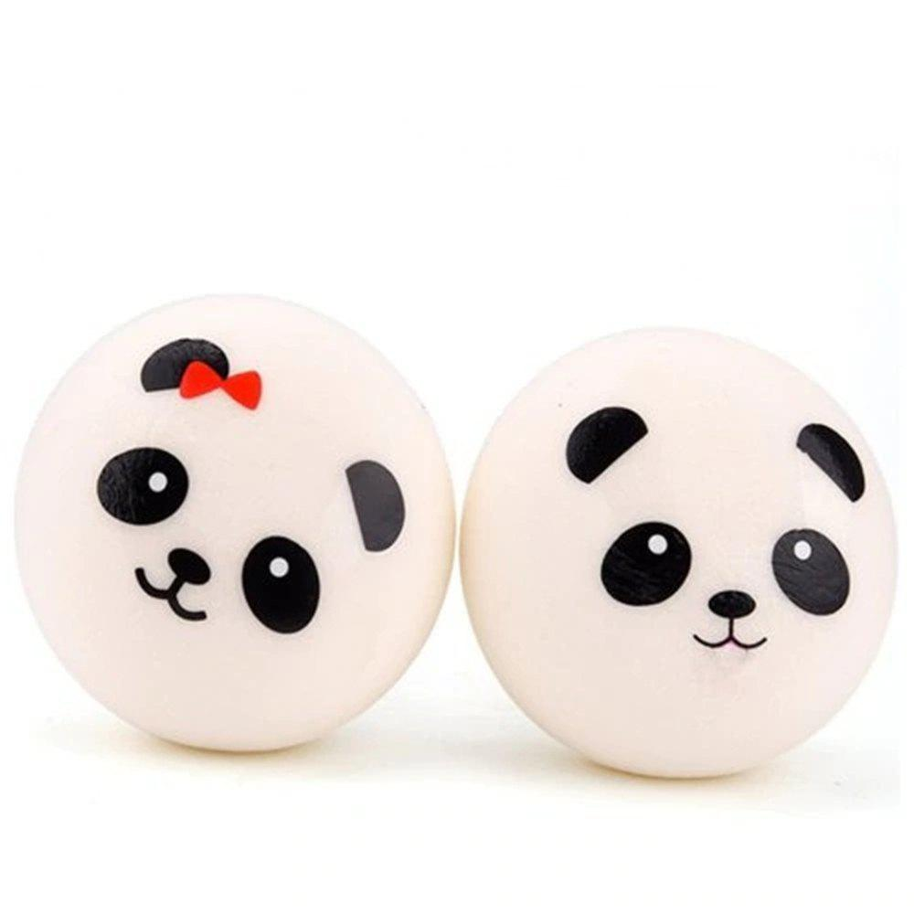 Best 4cm Jumbo Squishy Panda Bread Stress Relief Soft Toy for Kids and Adults 2PCS