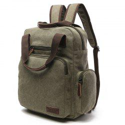 ZUOLUNDUO Large Canvas Handbag Student Backpack -