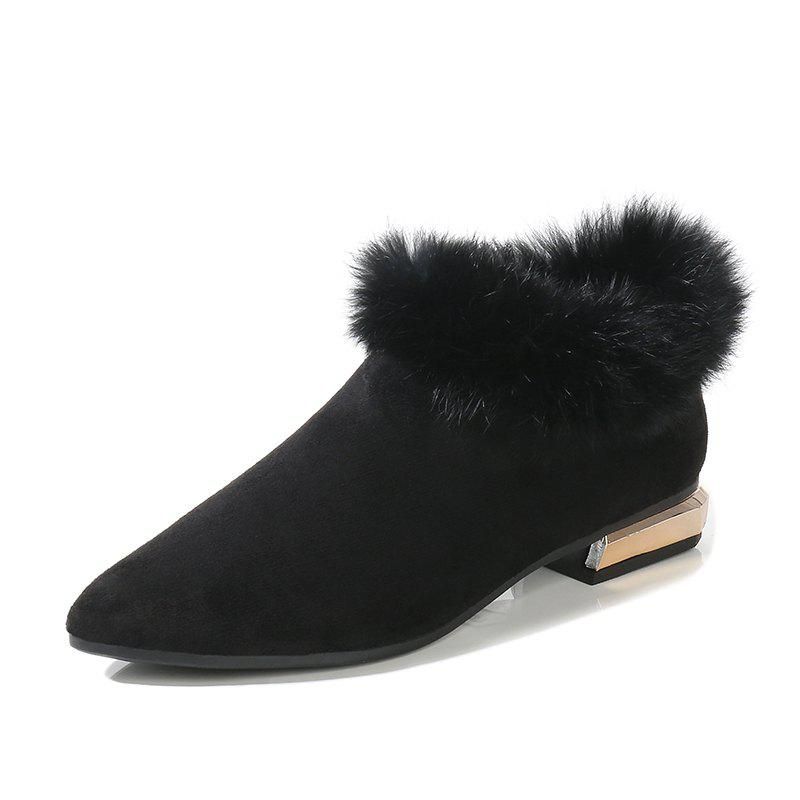 Trendy Winter Fur Shoes And Boots
