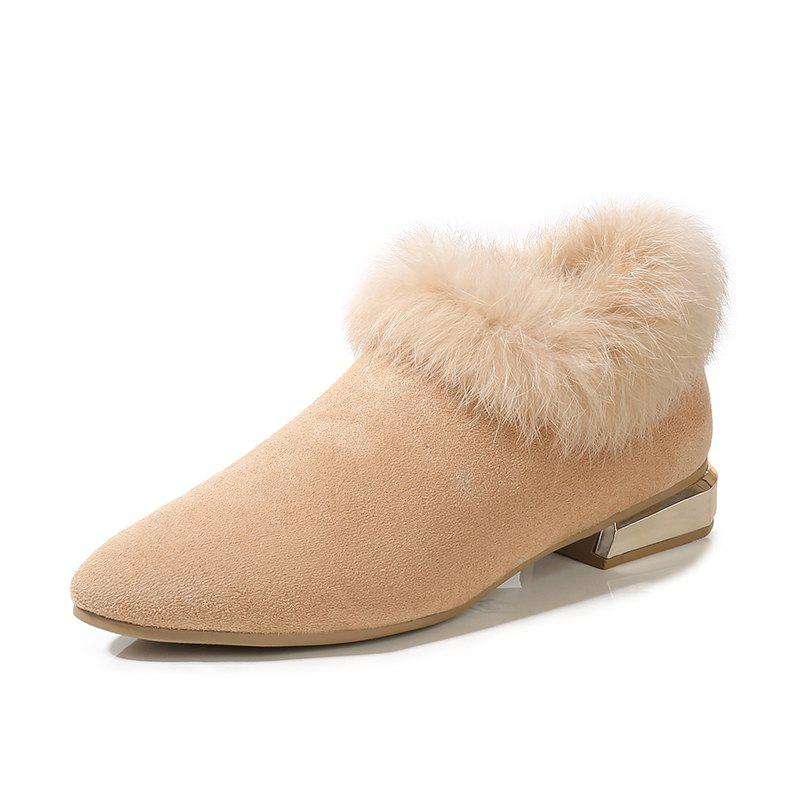 Chic Winter Fur Shoes And Boots