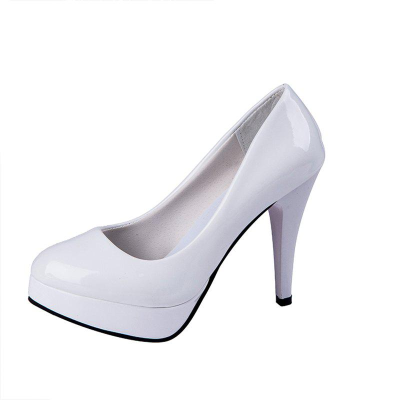 Shop New Type Work Shoes Waterproof Table Highheeled Single Shoes