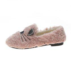 Plush And Thickened Flatsoled Single Shoes -