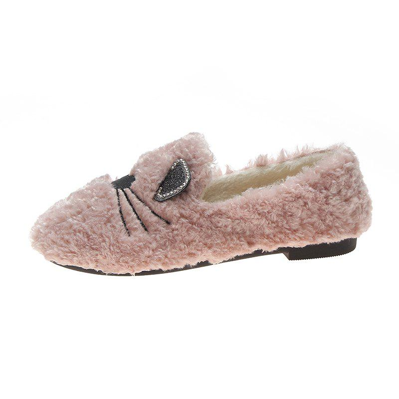 Outfits Plush And Thickened Flatsoled Single Shoes