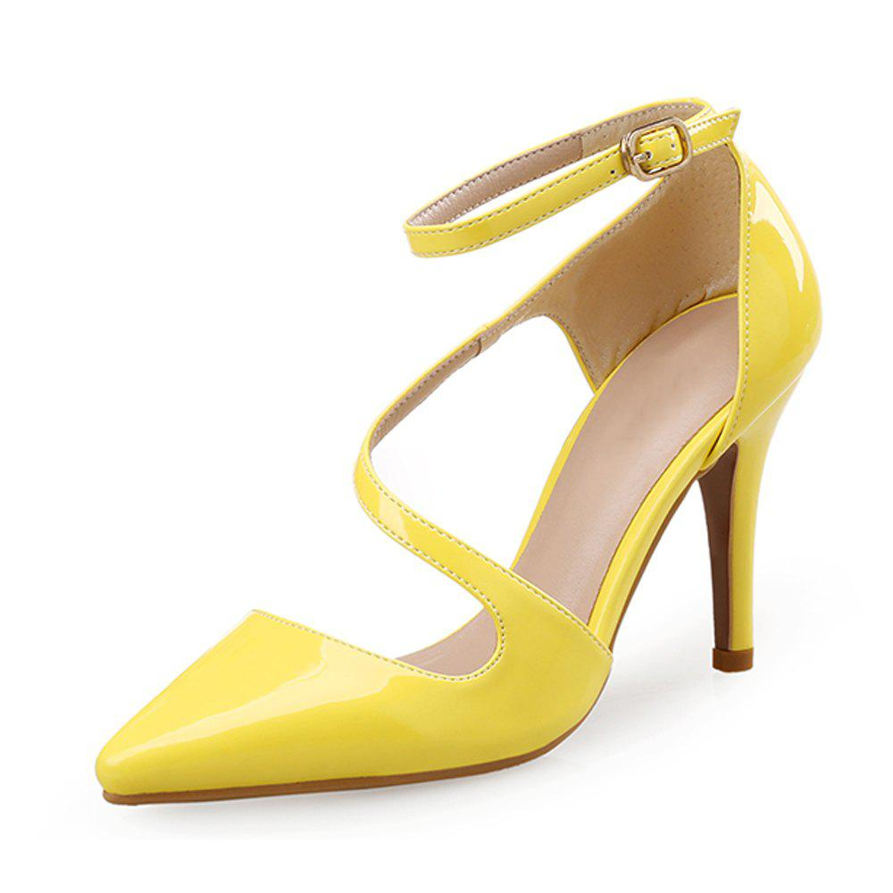 Discount Sexy Pointed Shoes Hollow Shallow Mouth Female High Heel Shoes