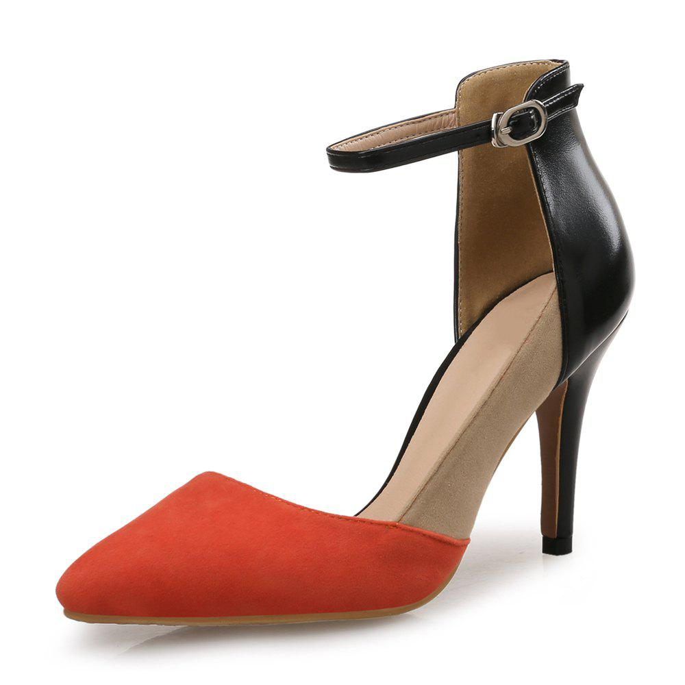 Sale Baotou Hollow Word Buckle Stiletto Pointed Sexy Women'S Shoes