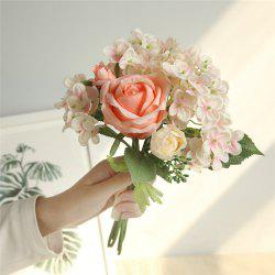 Vivid Artificial Flowers Bridal Bouquet Home Wedding Party Decorations -