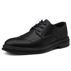 Men Leather Business Formal Pointed Casual Shoes -