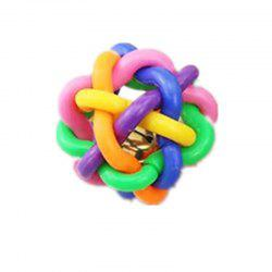 Pet Chew Toys Dog Colorful Bouncy Rubber Balls with Bell -