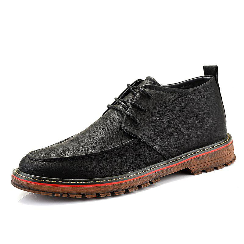 Trendy Men Fashion Lace Up Soft and Comfortable Shoes