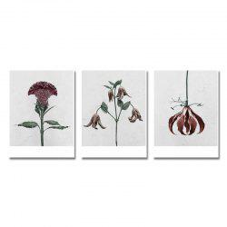 DYC 3PCS Withered Flowers Print Art -