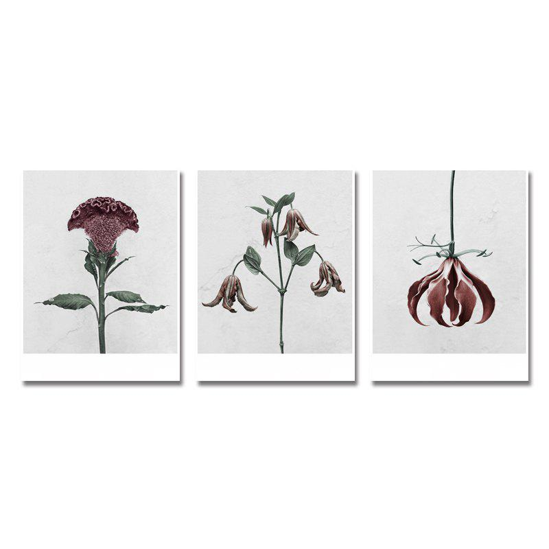 DYC 3PCS Withered Flowers Print Art