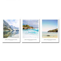 DYC 3PCS Landscape Seaside Scenery Print Art -