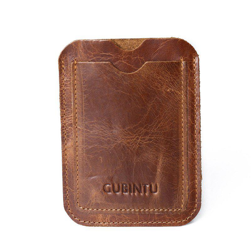 Affordable GUBINTU 421 Ultra-thin Leather Wallet Card Holder Coin Purse