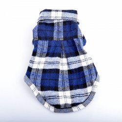 Pet dog casual checked shirt -