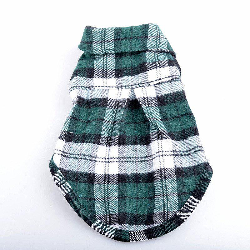Sale Pet dog casual checked shirt