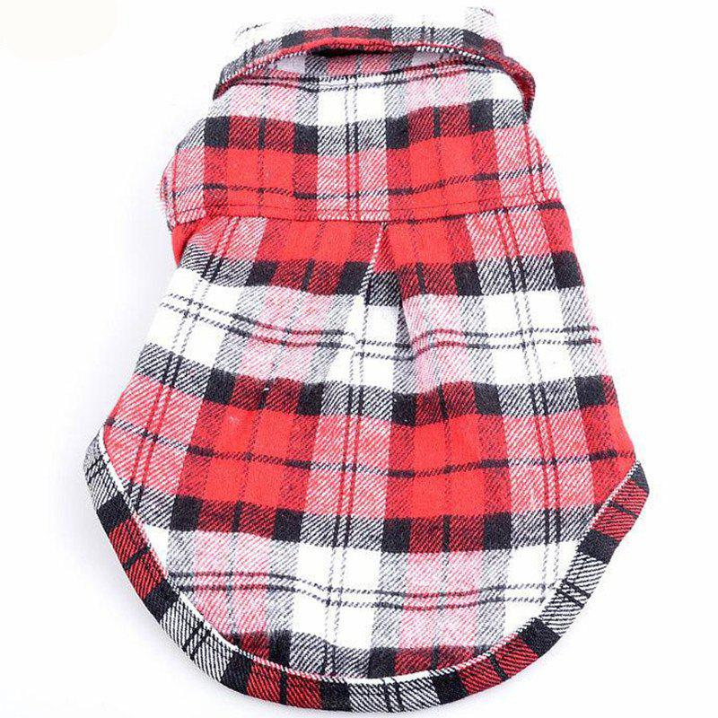 Chic Pet dog casual checked shirt