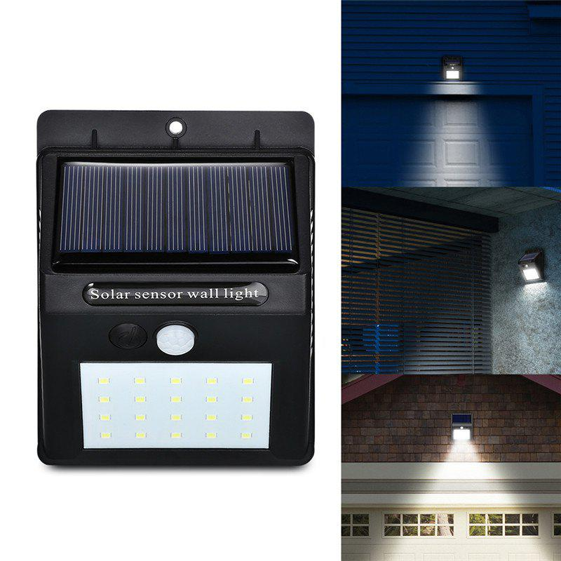 Store 20 LEDs Solar Power PIR Motion Sensor Wall Light Outdoor Waterproof Energy Save