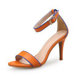 One Word Buckle Sandals Female Open Toe Sexy High Heel Women'S Shoes -