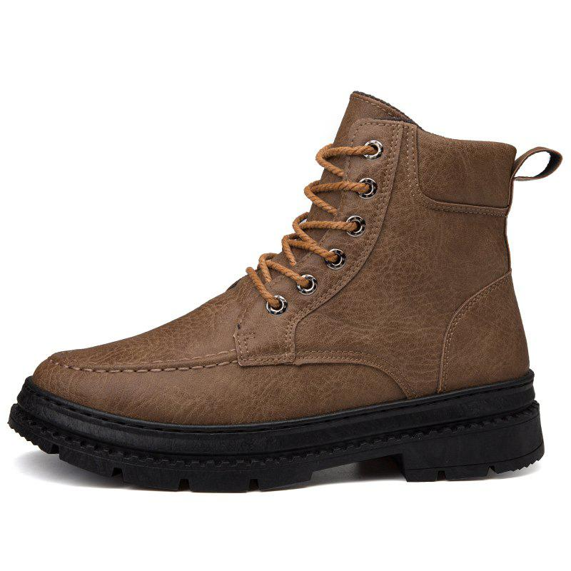 Shops Men British High-Top Leather Trend Tooling Boots