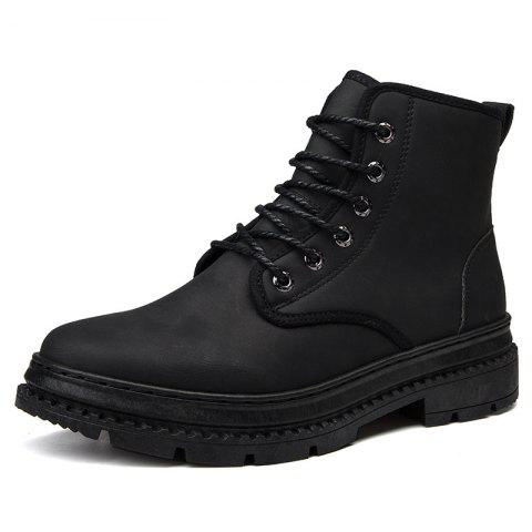 Men Leather British Wear-Resistant Non-Slip Casual Shoes Tooling Boots