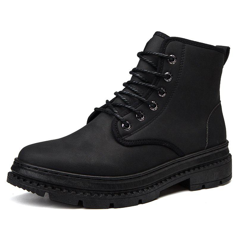 New Men Leather British Wear-Resistant Non-Slip Casual Shoes Tooling Boots