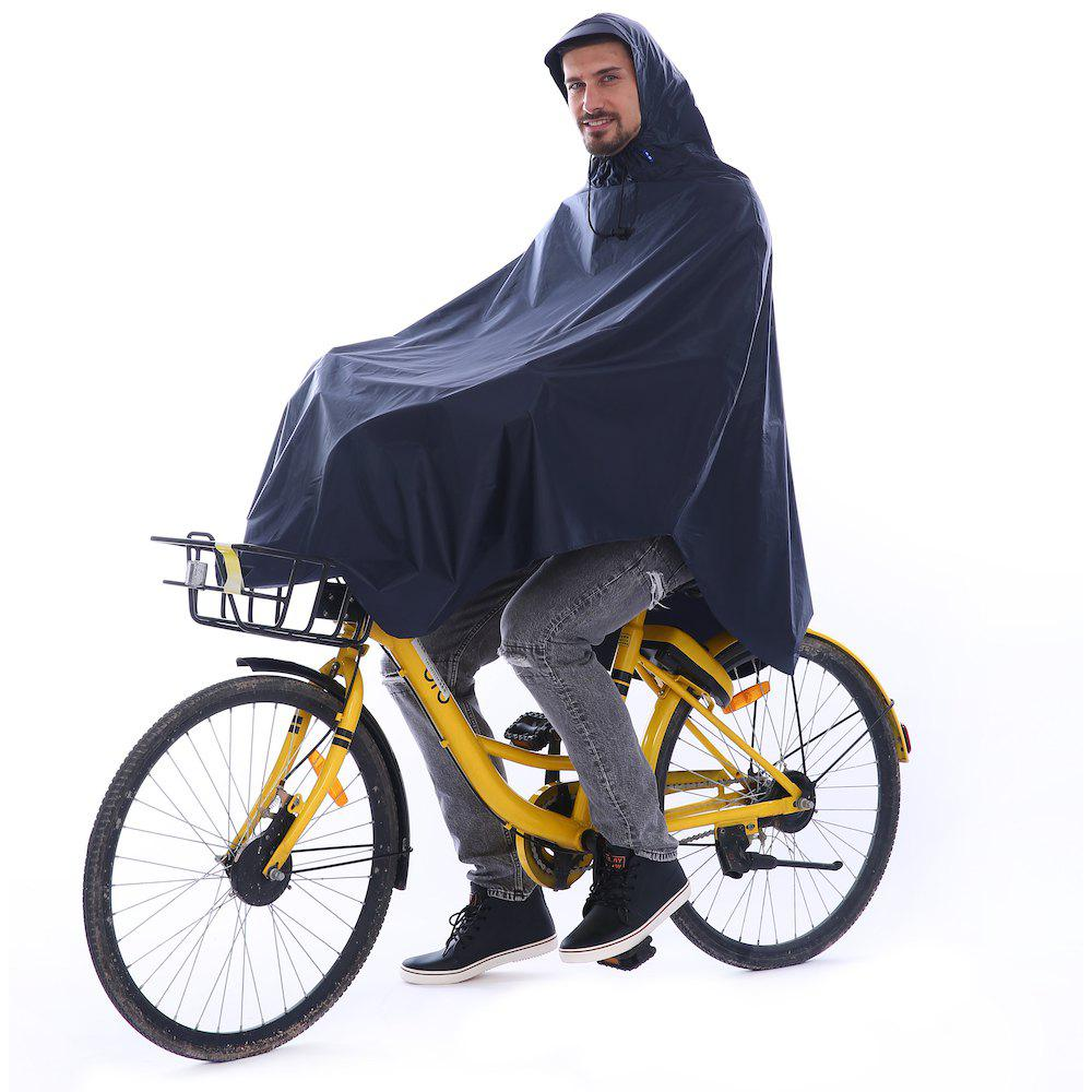 Trendy Waterproof Rain Poncho Bike Bicycle Rain Coat Capes Compact Scooter Cover