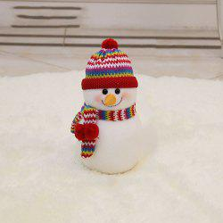 The Snowman Doll Is Stuffed with Christmas Decoration -