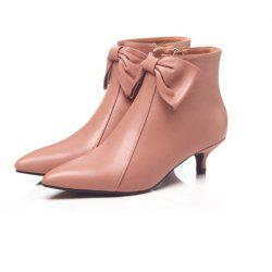 Leather Ankle Boots Women's 3cm High Heel Boots -