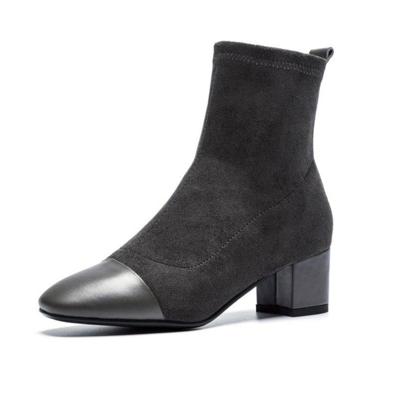 Online Pointy High-Heeled Ankle Boots For Women With Thick Heels