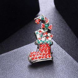 New Year'S Christmas boots Brooch -