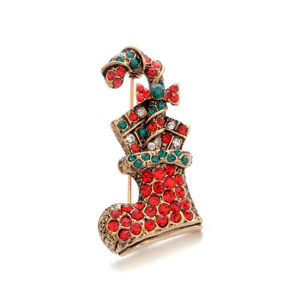 Hot New Year'S Christmas boots Brooch