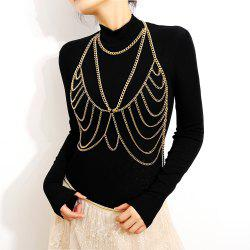Personality Simple Exaggerated Chain Tassel Body Chain -