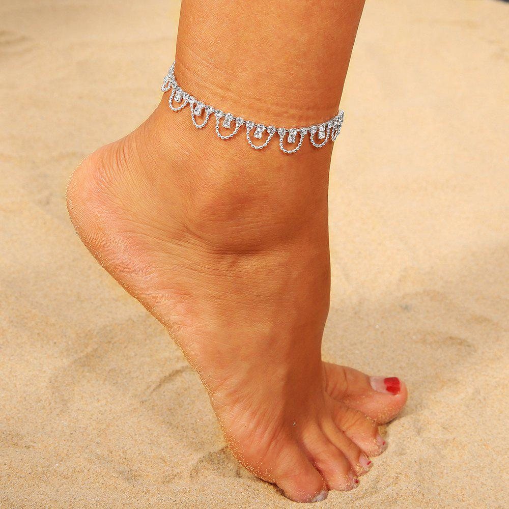 European and American Geometric Diamonds Fashion Dazzling Semi-Circular Anklets