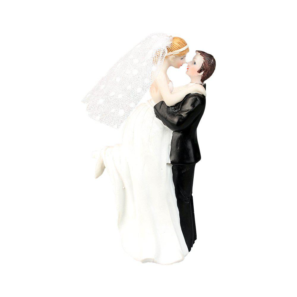 Cheap New Happiness Bride and Groom Cake Topper Decorate