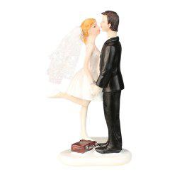 New Station Box Kissing The Bride The Groom  Cake Topper Decorate -