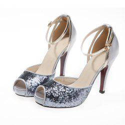 Fish Mouth High Heel Stiletto Hollow Female Sandals -