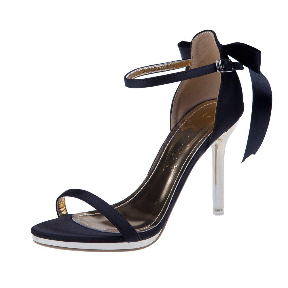 Cheap Simple One Word Buckle Open Toe Sexy High Heel Women'S Sandals