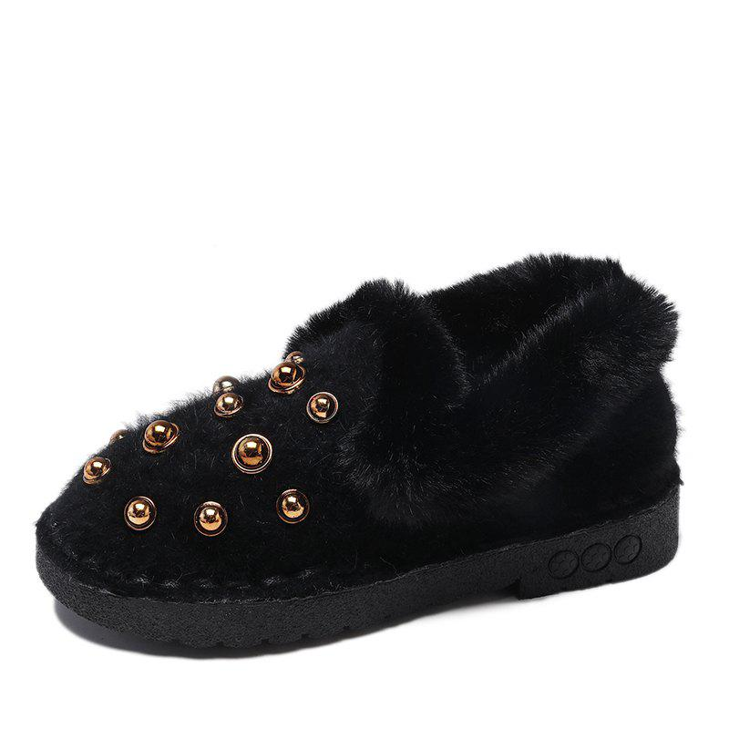 Store Rivets Comfortable Warm Flat Shoes