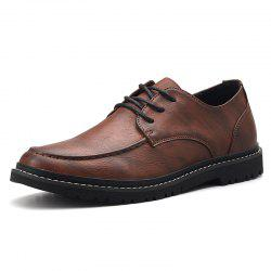 Casual Shoes Leather Lace-Up Fashion Boat Shoes -